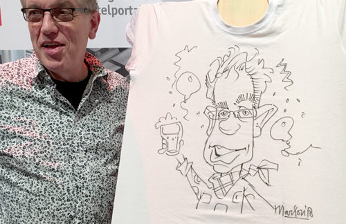 Karikaturen op t-shirt