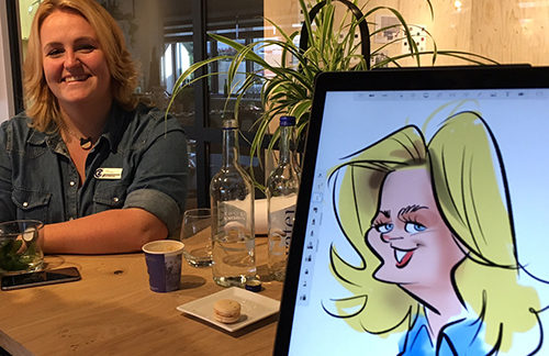 iPad caricatures