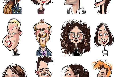 Digital caricatures at a medical congress