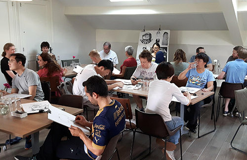 Workshop caricature drawing