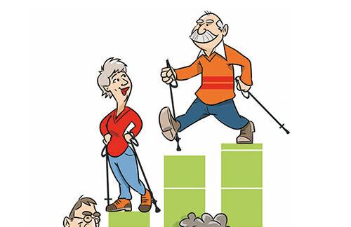 Cartoon voor ouderenmonitor
